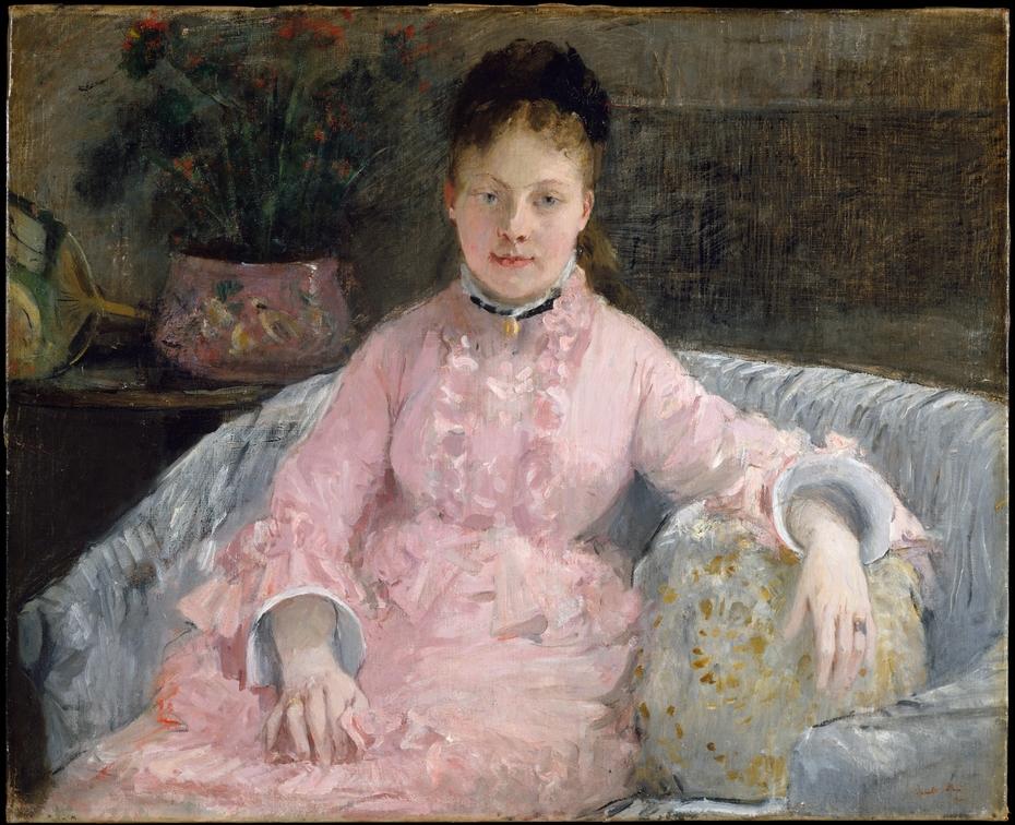 The Pink Dress (Albertie-Marguerite Carré, later Madame Ferdinand-Henri Himmes, 1854–1935)