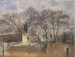 The Raised Terrace of the Pont-Neuf, Place Henri IV: in Morning Rain