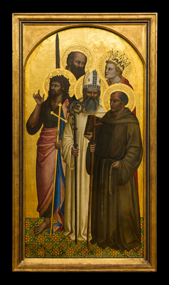 the Saints John the Baptist, Egidius, Gerard of Villamagna, Paul and Catherine (or Miniato)