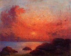 The Sun Setting on the Sea