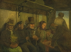 Travellers in a Third Class Compartment