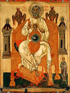 Trinity with the Saints
