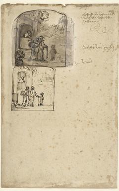 Twee voorstellingen van de wegzending van Hagar