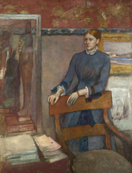 Hélène Rouart in her Father's Study