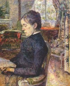 La Comtesse Adèle de Toulouse-Lautrec dans le salon du Château de Malromé