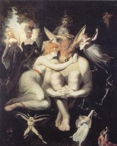 Titania liebkost den eselköpfigen Bottom
