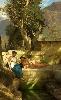 At the spring - Roman bucolic