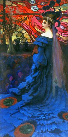 Peacock - Portrait of Zofia Borucińska née Jakimowicz