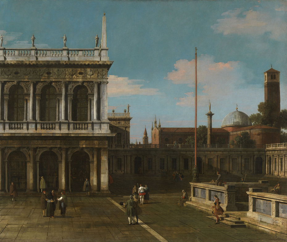 Venice: Capriccio of the Piazzetta with the Libreria