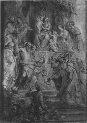 Verehrung Mariae durch Heilige