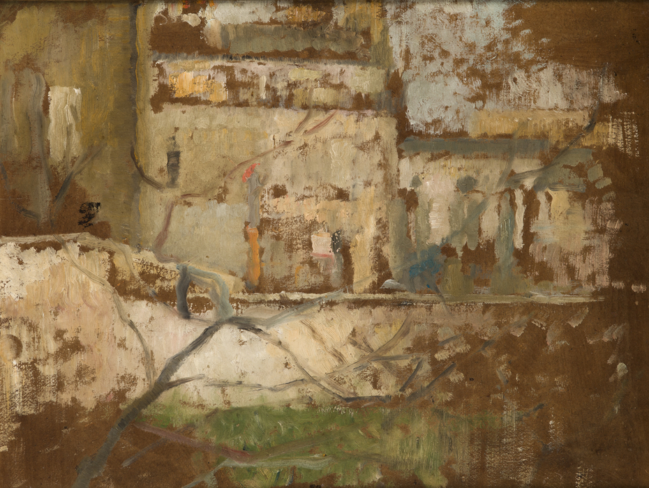 View from the Studio's Window – two-sided painting