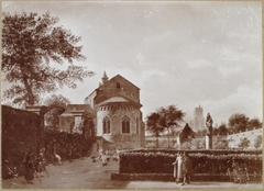 View of a Monastery Garden with the Back of the St. Cecilia Church in Cologne