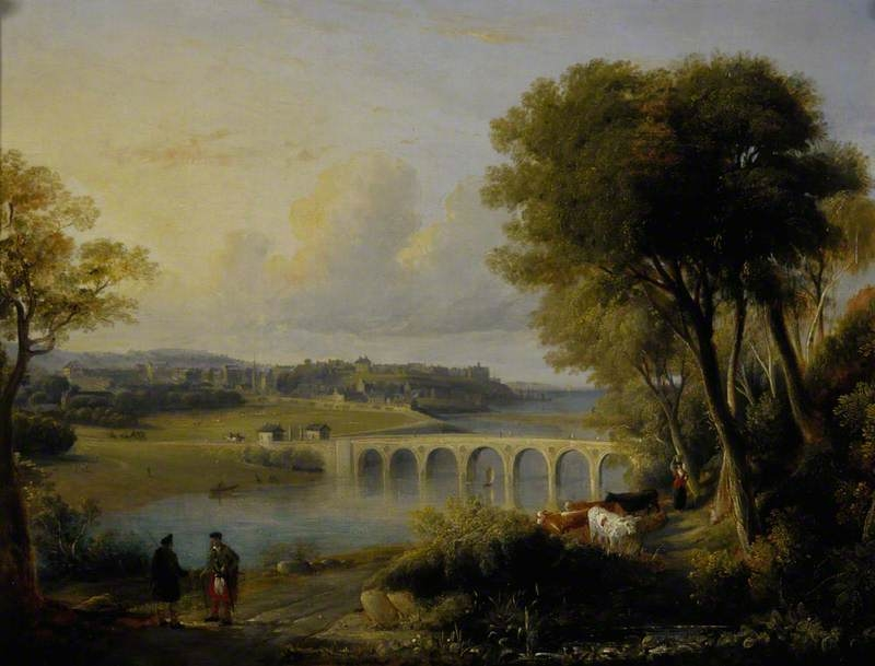 View of Banff with the Bridge over the River Deveron