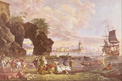 View of Posillipo near Naples