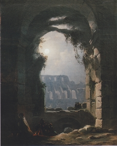 View of the Colosseum by Night