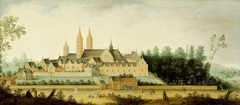 View of the EgmondAbbey in Egmond-Binnen (Sint Adelbertabdij)