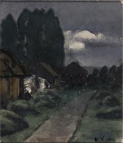 Village of Great Gorki. Dawn