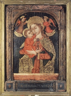 ''Virgin and Child with Two Angels''