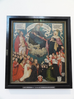 Votivbild des Ulrich Schwarz: Christus und Maria als Fürbitter vor Gottvater
