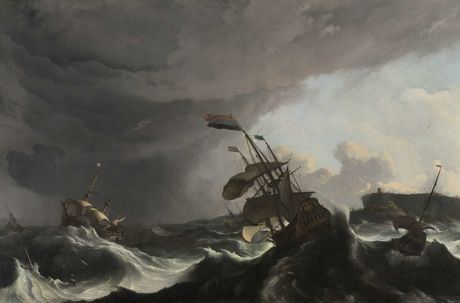 Warships in a Heavy Storm