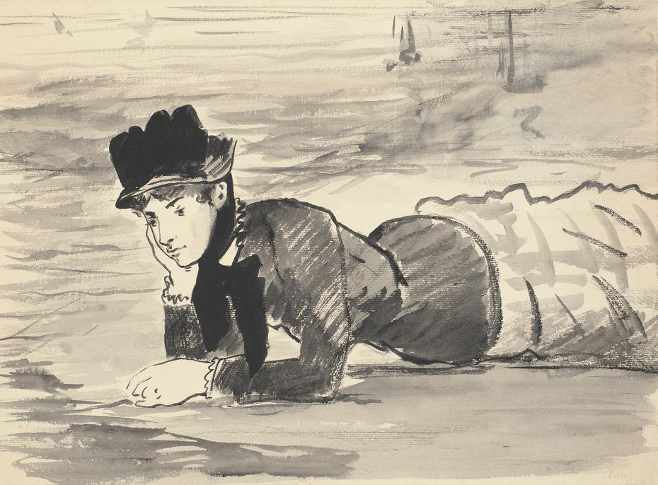 Woman Lying on the Beach. Annabel Lee.
