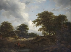 Wooded Landscape with a Pool and Figures