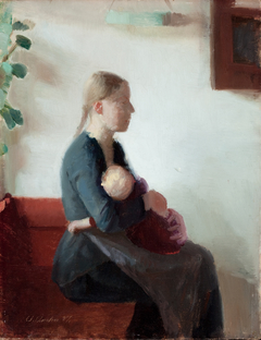 Young mother with her child