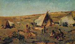 Zigeunerlager in der Puszta