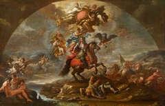 A Glorification of Prince Eugene (1663-1736) of Savoy's Victories over the Turks in Hungary and at Zenta and Belgrade in 1697