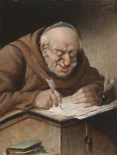 A Scribing Monk