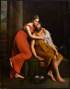 A Young Woman from Thebes Tending Her Wounded Father
