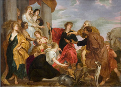 Achilles recognizes the daughters of Lykomedes
