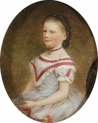 Alice Mary Darby, later Mrs Francis Alexander Wolryche-Whitmore (1852-1931) as a Young Girl