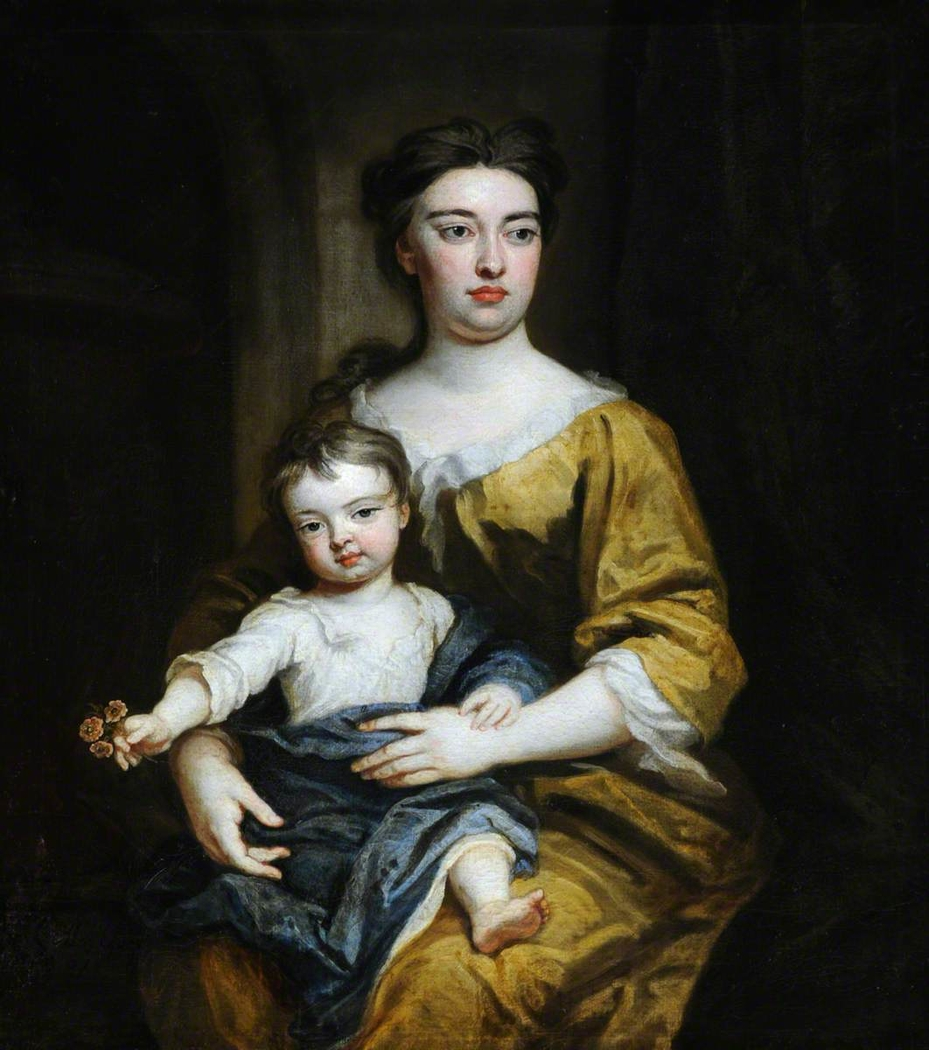 An Unknown Woman and Child, possibly Lady Rachel Russell, Duchess of Devonshire (1674-1725) and William Cavendish, 3rd Duke of Devonshire (1698-1755)