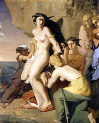 Andromeda chained to the Rock by the Nereids