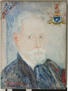Baron James Ensor, his bad angel, hit coat of arms