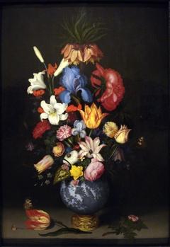 Bouquet in a Wan-Li Vase with a Gilt Mount