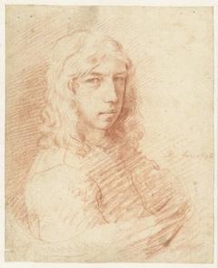 Buste van een jongeman met lang haar