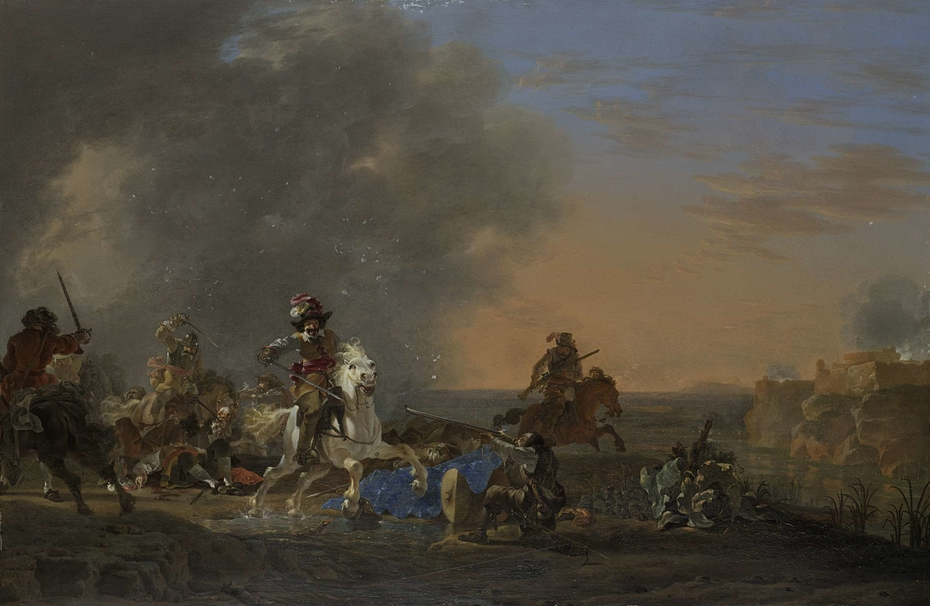 Cavalry Attack at Sunset