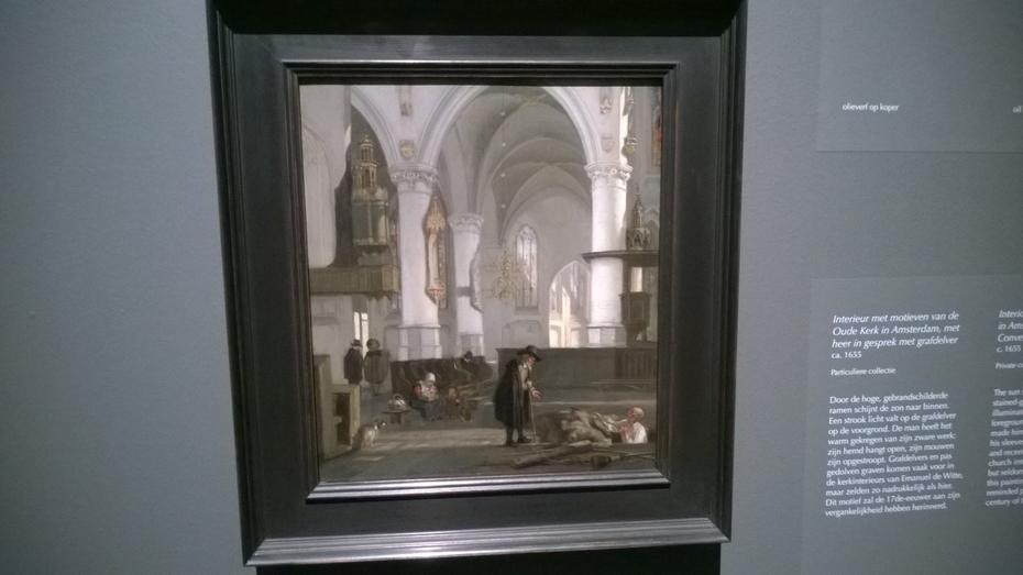 Church Interior with Gravedigger