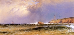 Coastal Scene with Lighthouse