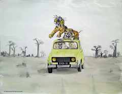 CROQUIS DE LA NUIT 3 NOVEMBRE 1976 - Sketch from the night Nov 3rd, 1976 - by Pascal