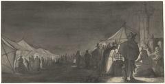 De Melkmarkt in Zwolle, bij avond