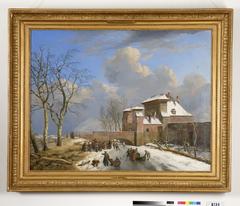 De Sassche poort te Gent bij winter