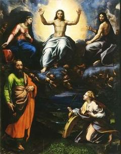 Deesis with Saint Paul and Saint Catherine