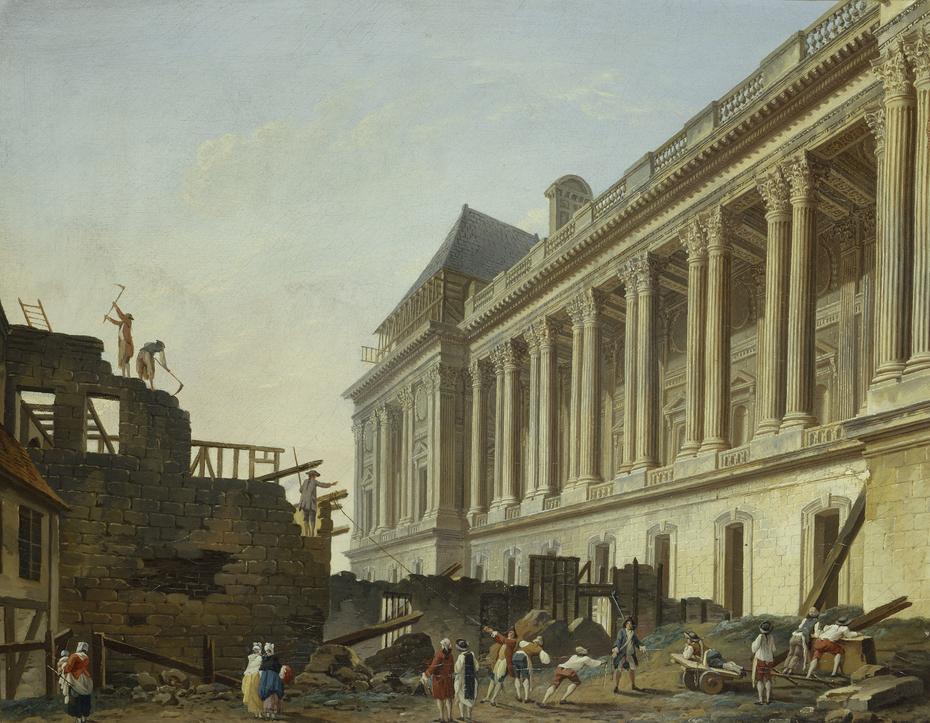 Dégagement de la colonnade du Louvre