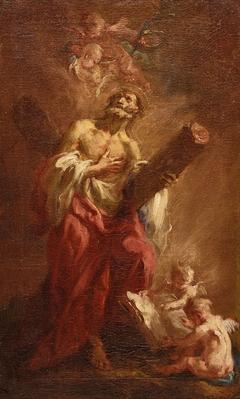 Der Apostel Andreas mit dem Kreuz