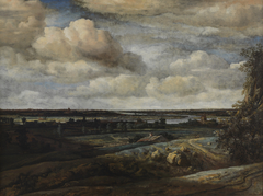 Dutch Panorama Landscape with a River