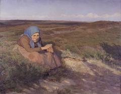 """En gammel kone """"Bette Dorte"""" på heden"""