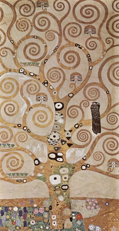Entwurf für den Wandfries im Palais Stoclet in Brüssel, Detail: Lebensbaum